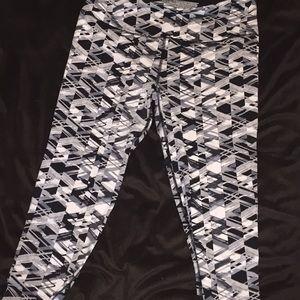 Black and White Victoria's Sport Leggings
